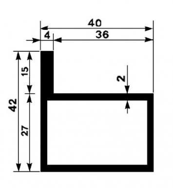tube ailettes p f en l 40x27x2 mm ailette 15 mm poids 2 560 kg m l1. Black Bedroom Furniture Sets. Home Design Ideas