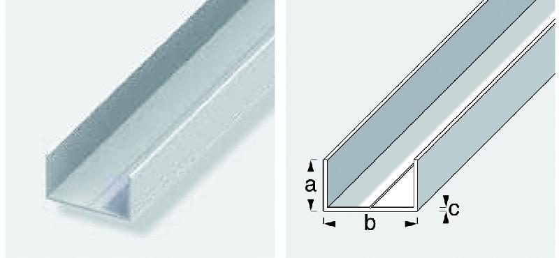 u rectangulaire pvc rigide blanc dim axbxc 23 5x43 5x1 5 mm lg 1 m. Black Bedroom Furniture Sets. Home Design Ideas