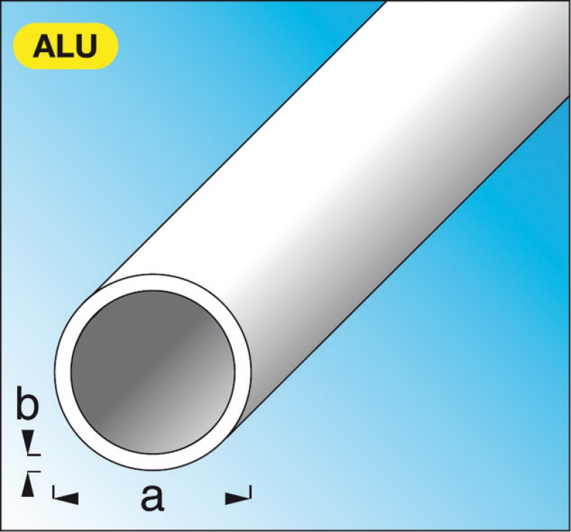 tube rond en aluminium brut 20 mm p 1 mm lg 2 m. Black Bedroom Furniture Sets. Home Design Ideas