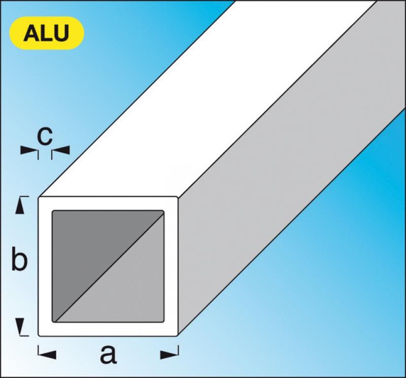 tube carr en aluminium brut dim 25 mm p 1 5 mm lg 2 m. Black Bedroom Furniture Sets. Home Design Ideas