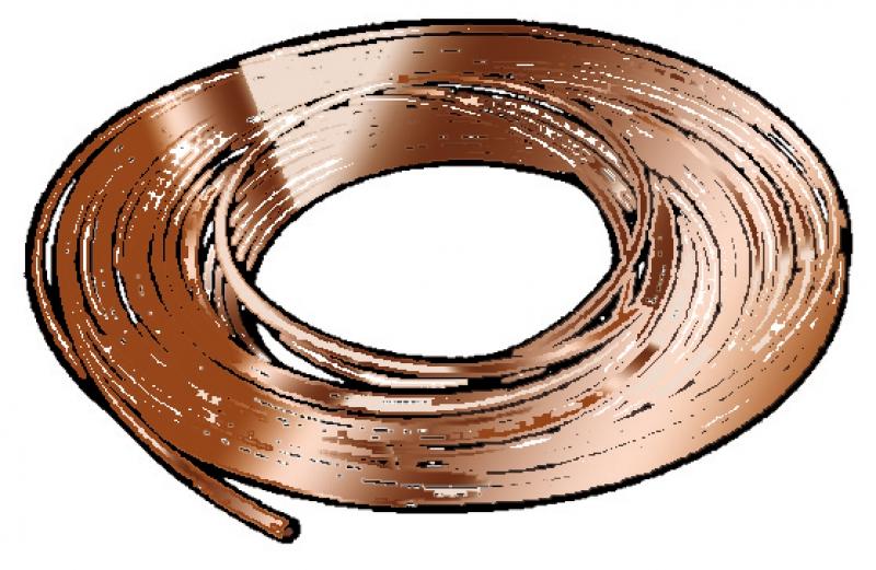 tube cuivre recuit isol 14x16 gaine env 21 couronne 25 m code au m l. Black Bedroom Furniture Sets. Home Design Ideas
