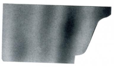 talon souder pour goutti re moulur e de 33 zinc. Black Bedroom Furniture Sets. Home Design Ideas