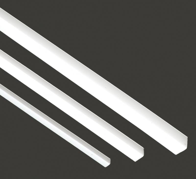 profil pvc d 39 habillage blanc corni re 10x10 2 mm lg 2 60 m. Black Bedroom Furniture Sets. Home Design Ideas