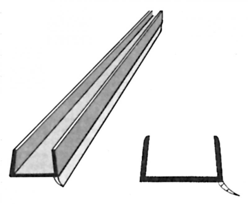 profil d 39 tanch it pour socle de cuisine lg 2 60 m translucide pour bois 19 mm. Black Bedroom Furniture Sets. Home Design Ideas
