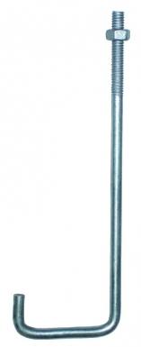 crochet galvachaud pour IPN de 100 + écrou D=90 Ø 8 mm lg