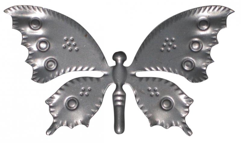 papillon fer forgé N° 137/9 dimensions 110x65x0,5 mm