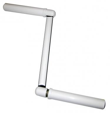 Manivelle acier chrom plastique gris rond 12 blister 1 p for Tringlerie porte fenetre