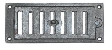 grille a ration chemin e fermeture r glable fonte poxy noir hxl 110x220 mm. Black Bedroom Furniture Sets. Home Design Ideas