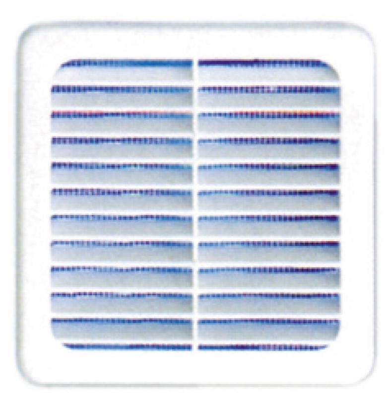Grille da/ération en m/étal Blanc 500 x 100 mm