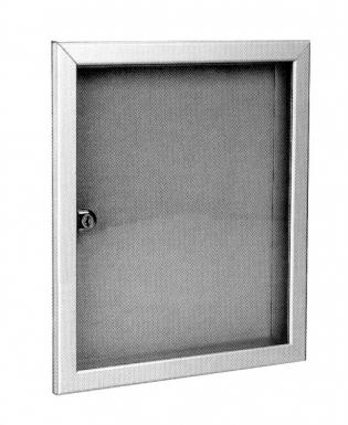 tableau d 39 affichage alu or fond vert vitre plexi lxhxp 550x680x40 cyl 2 cl s. Black Bedroom Furniture Sets. Home Design Ideas