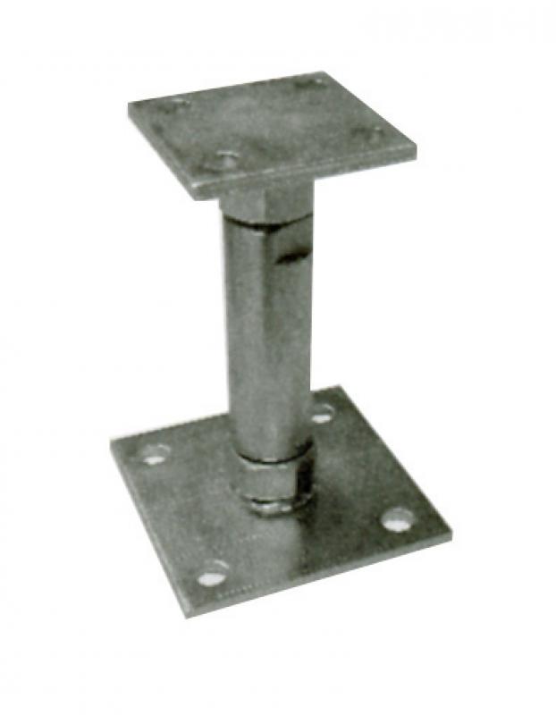 ancre de poteau haut r gl 150 190 mm par une vis m20 bichromat e. Black Bedroom Furniture Sets. Home Design Ideas