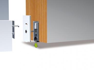 Bas de porte r tractable en alu joint tubulaire silicone for Bas de porte automatique