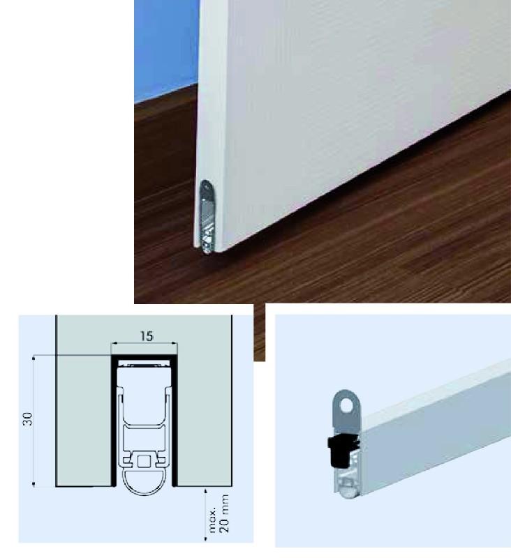 bas de porte automatique ellenmatic uni proof contre les. Black Bedroom Furniture Sets. Home Design Ideas