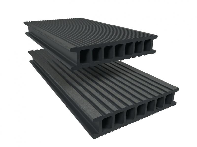 Lame Composite Twinson Pour Terrasse Ou Brise Vue L X L X Ep 400 X 14 X 2 8 Cm Gris Galet