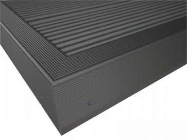 profil de finition twinson pour terrasse ou brise vue alu anodis l 600 cm noir. Black Bedroom Furniture Sets. Home Design Ideas