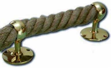 anneau de rampe pour cordage 35 mm sur rosace vis laiton poli. Black Bedroom Furniture Sets. Home Design Ideas