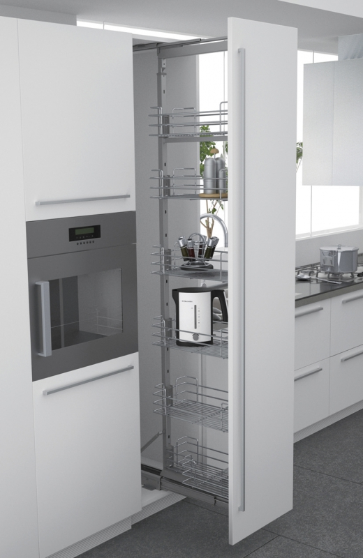 Chassis kit coulisses pour colonne extractible form 300 for Coulisse meuble cuisine