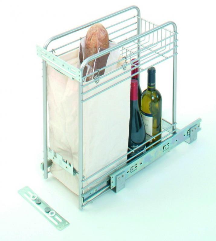 panier pain bouteilles sur coulisse bille charge 35 kg. Black Bedroom Furniture Sets. Home Design Ideas
