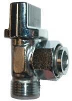 robinet d'arrêt équerre chromé 1/4 de tour pour rése...