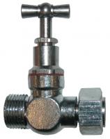 robinet d'arrêt droit chromé pour réservoir de chasse - f...