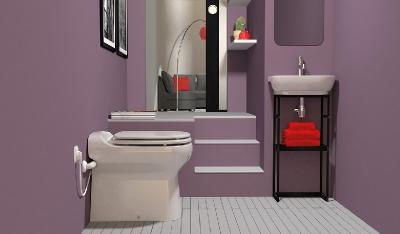 salle de bain sanibroyeur broyeur wc sanicompact elite eco refoulement horizontal 30 m. Black Bedroom Furniture Sets. Home Design Ideas