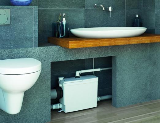 salle de bain sanibroyeur broyeur sanipack up refoulement horizontal 50 m vertical 5 m. Black Bedroom Furniture Sets. Home Design Ideas