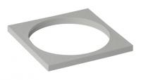 platine carrée 100 x 100 mm PVC gris clair pour siphons à ...