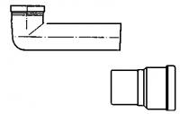 sortie droite avec joint à lèvre en élastomère - Ø DM 8...