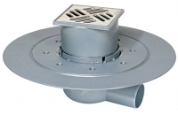 siphon de sol ABS - sortie horizontale Ø 50 mm - débit 0,8...