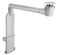 siphon lavabo gain de place recoupable et orientable - bonde...