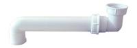 tubulure gain de place réglable - polypro. blanc - 1 prise ...