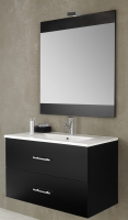 meuble Colton 100 cm (H 51,8 cm / P 46 cm) - 2 tiroirs - bla...