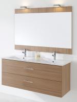 meuble Colton 120 cm (H 51,8 cm / P 46 cm) - 2 tiroirs - bla...