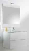 meuble Kibell 120 cm (H 51,8 cm / P 46 cm) - 2 tiroirs - bla...