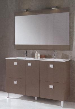 Meuble kerlan 120 cm h 72 5 cm p 46 cm 1 porte 4 for Meuble salle de bain 120 cm portes