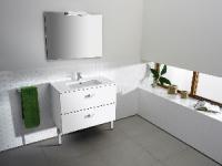 meuble Victoria 100 cm (H 56,5-86,5 cm / P 45 cm) - 2 tiroir...