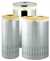 corbeille à linge 30 litres - chromé brillant