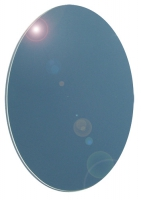 miroir ovale - argenture plastifiée - bord rodé - ép. 5 m...