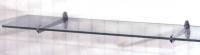 tablette verre incolore - ép. 5 mm - 50 x 12 cm
