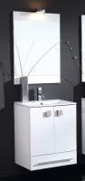 meuble Doki 60 cm (H 72,5-84,5 cm / P 46 cm) - 2 portes, 1 t...