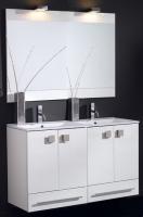 meuble Doki 120 cm (H 72,5-84,5 cm / P 46 cm) - 4 portes, 2 ...