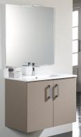 meuble Nox 80 cm (H 61,8 cm / P 46 cm) - 2 portes - blanc
