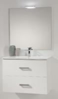 meuble Tim 80 cm (H 61,8 cm / P 46 cm) - 2 tiroirs - blanc