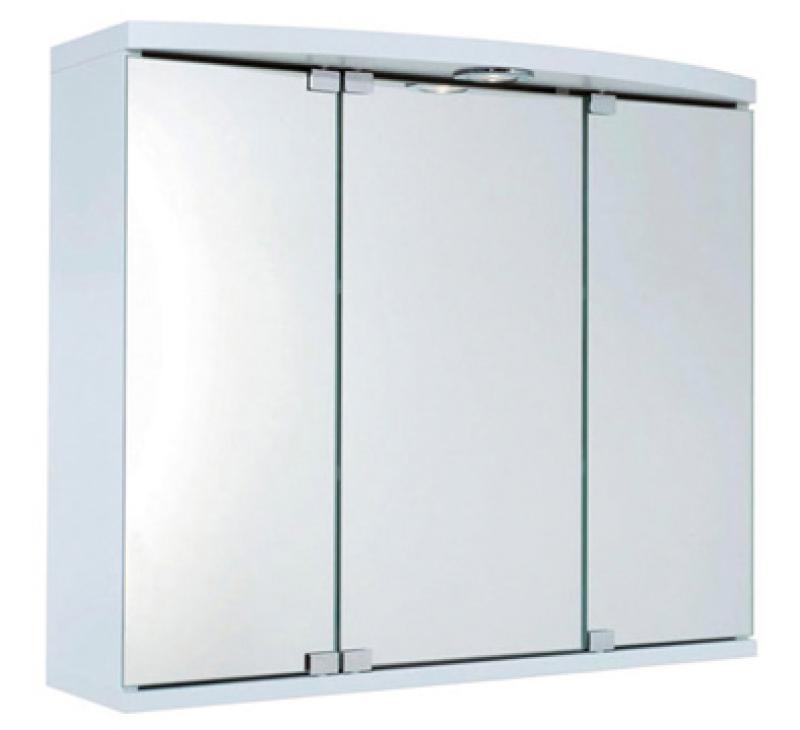 Armoire toilette maxi 45 en m lamin blanc lxhxp - Armoire de toilette decotec ...