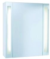 armoire toilette Brillance M85 en mélaminé blanc - LxHxP: ...
