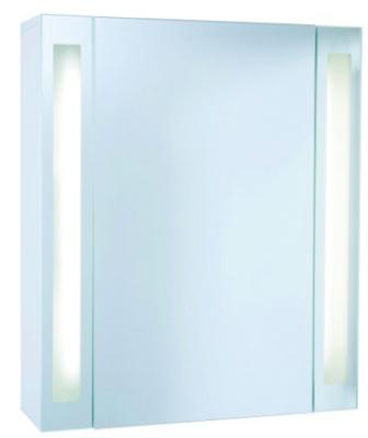 salle de bain miroirs armoire toilette brillance m85 en m lamin blanc lxhxp 592x700x180 mm. Black Bedroom Furniture Sets. Home Design Ideas