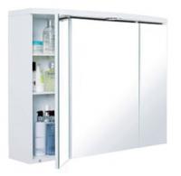 armoire toilette Neptune 80 en mélaminé blanc - LxHxP: 804...