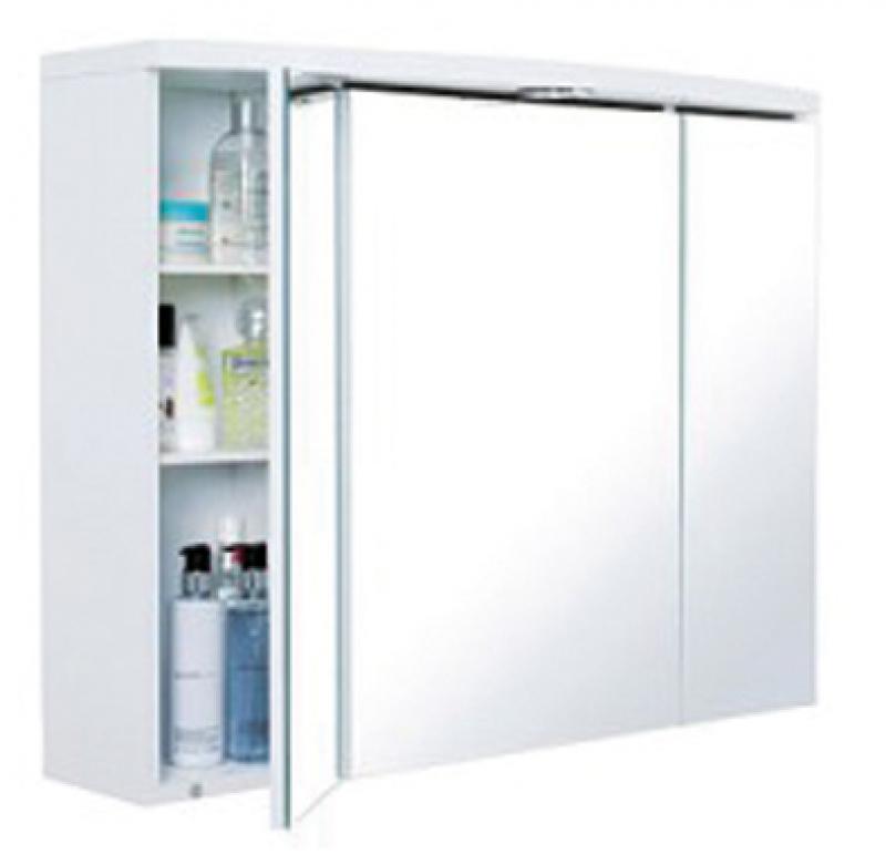 Armoire toilette neptune 80 en m lamin blanc lxhxp 804x627x180 260 mm - Armoire de toilette decotec ...