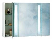 armoire toilette Brillance M84 en mélaminé blanc - LxHxP: ...