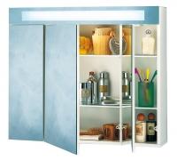 armoire toilette Mirage M82 en mélaminé blanc - LxHxP: 804...
